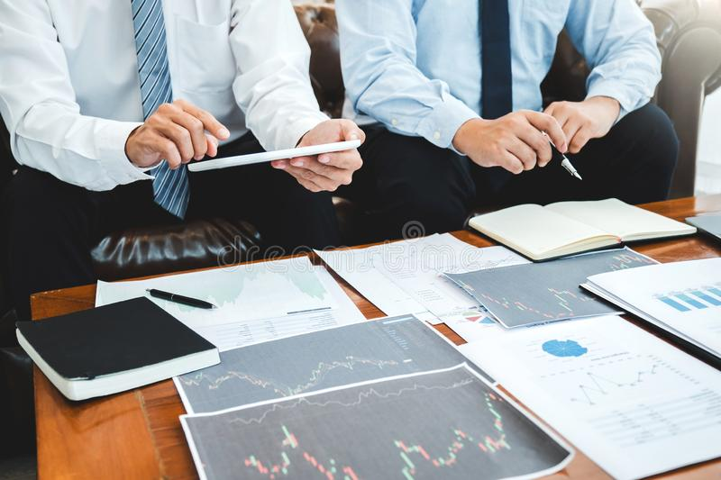 Business Team Investment Entrepreneur Trading discussing and analysis graph stock market trading,stock chart concept royalty free stock photography