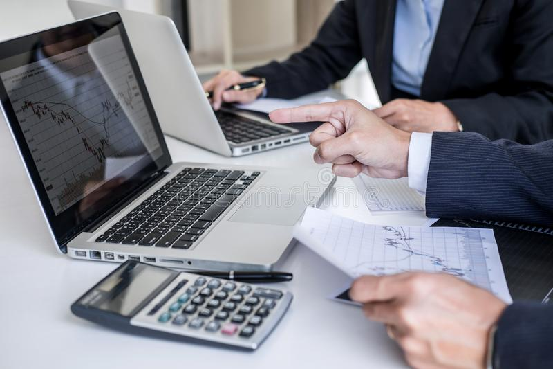 Business team investment working with computer and analysis graph stock market trading with stock chart data, business and. Technology concept stock photos