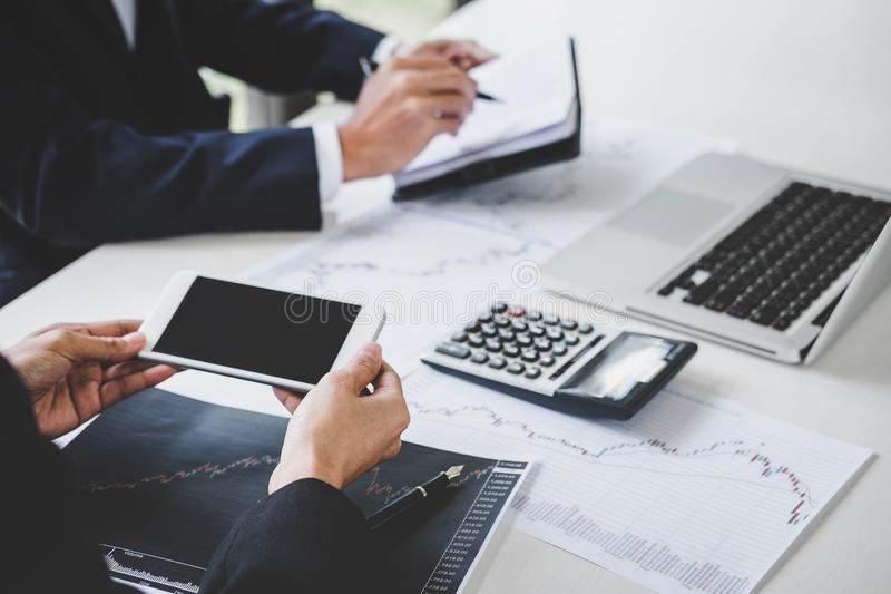 Business team investment working with computer and analysis graph stock market trading with stock chart data, business and. Technology concept stock image