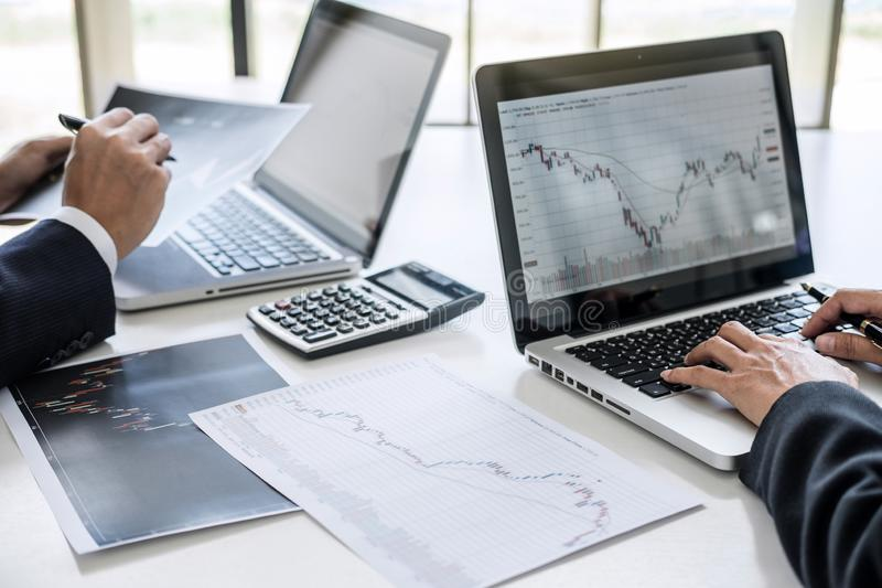 Business team investment working with computer and analysis graph stock market trading with stock chart data, business and. Technology concept stock images