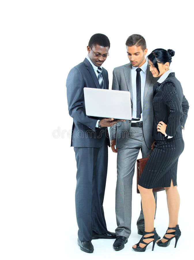 Business team isolated royalty free stock photography