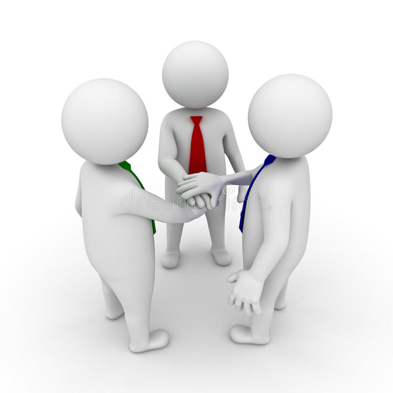 Download Business Team Joining Hands Royalty Free Stock Image - Image: 22987786