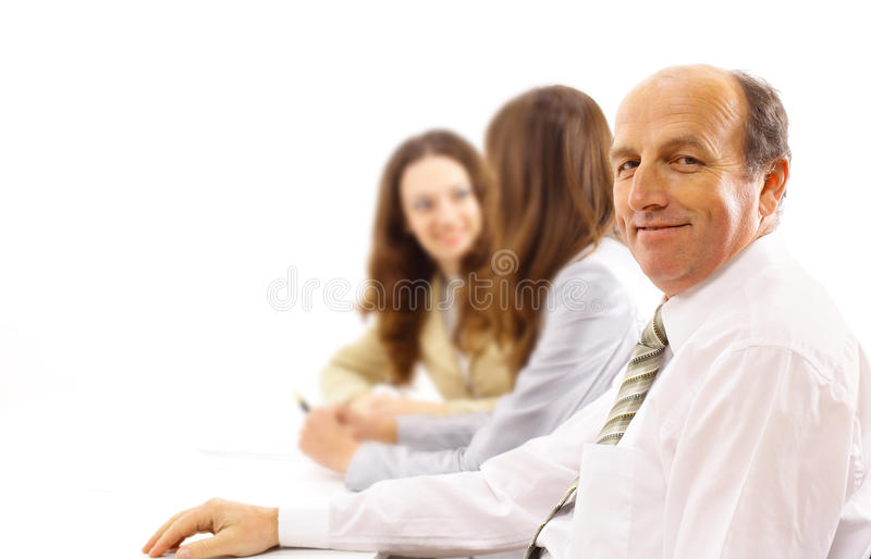 Business Team And A Leader Royalty Free Stock Photo