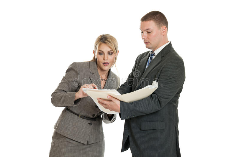 Download Business Team Looking At Folder Stock Photo - Image: 33457106