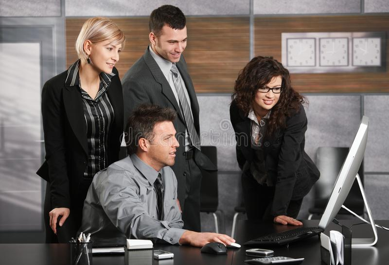Download Business Team Looking At Screen Stock Image - Image: 13053029