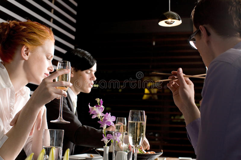 Business team lunch stock photography