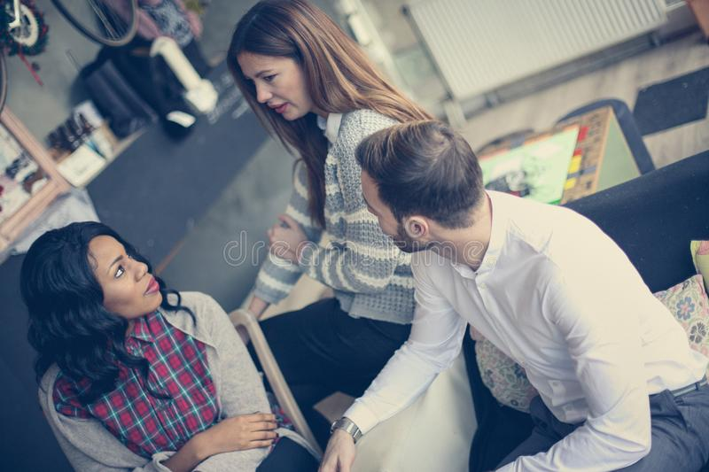Business team making new plans. royalty free stock photo