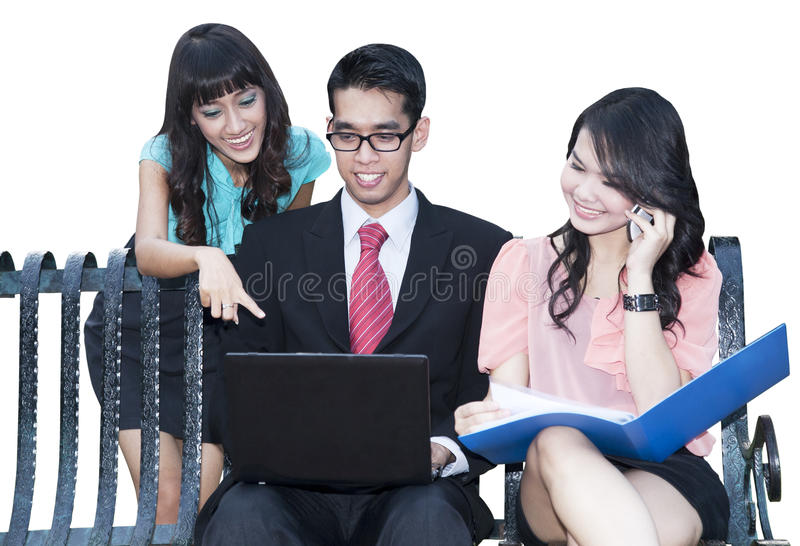 Business Team At A Meeting Royalty Free Stock Photography