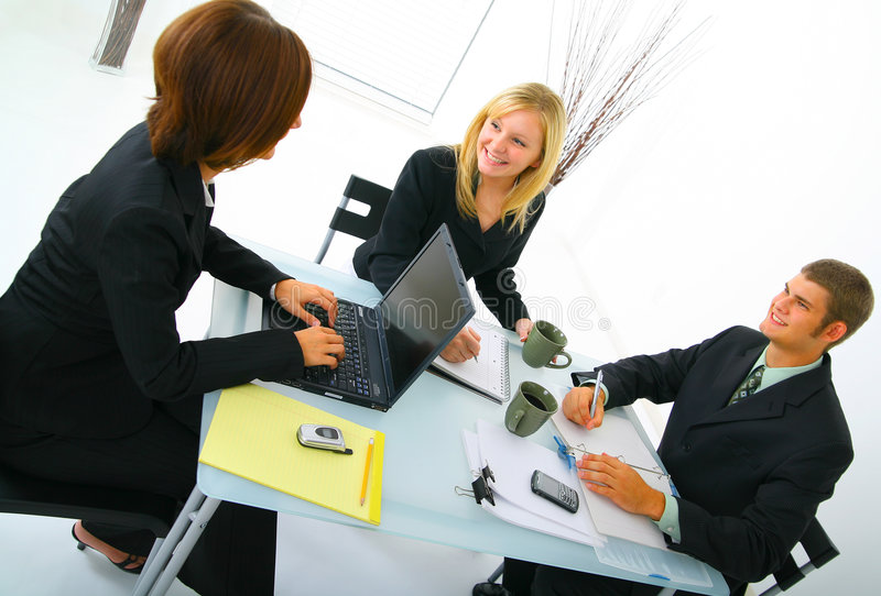 Download Business Team On Meeting stock image. Image of caucasian - 6528439