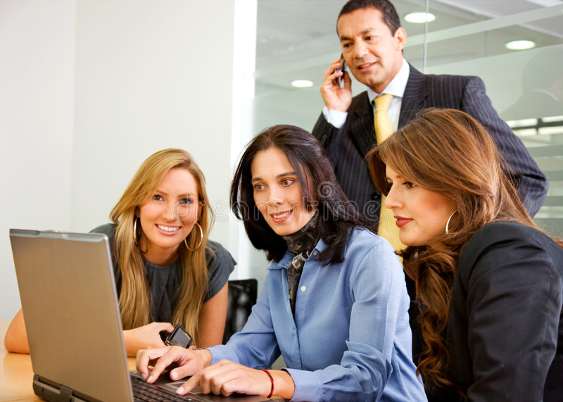 Download Business team in a meeting stock image. Image of latin - 7060723