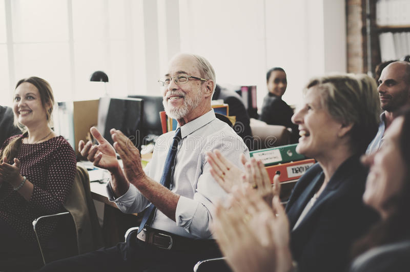 Business Team Meeting Achievement Applaud Concept.  royalty free stock photography