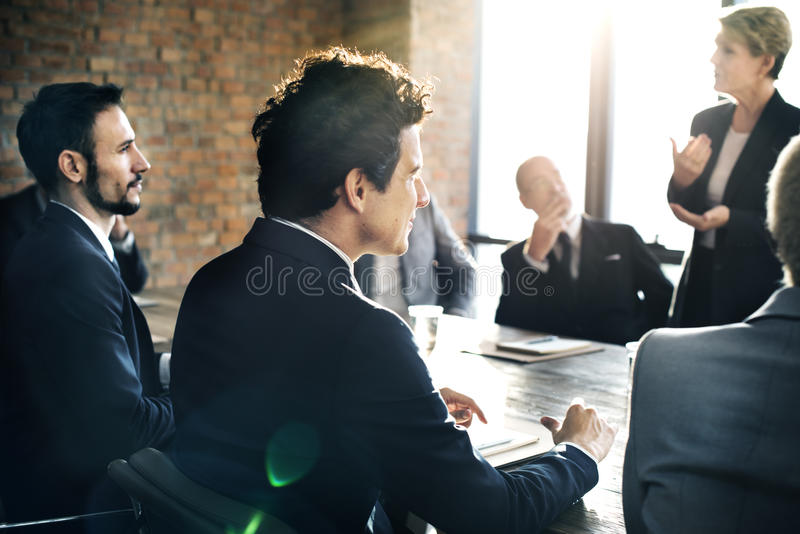 Business Team Meeting Brainstorming Togetherness Concept stock images
