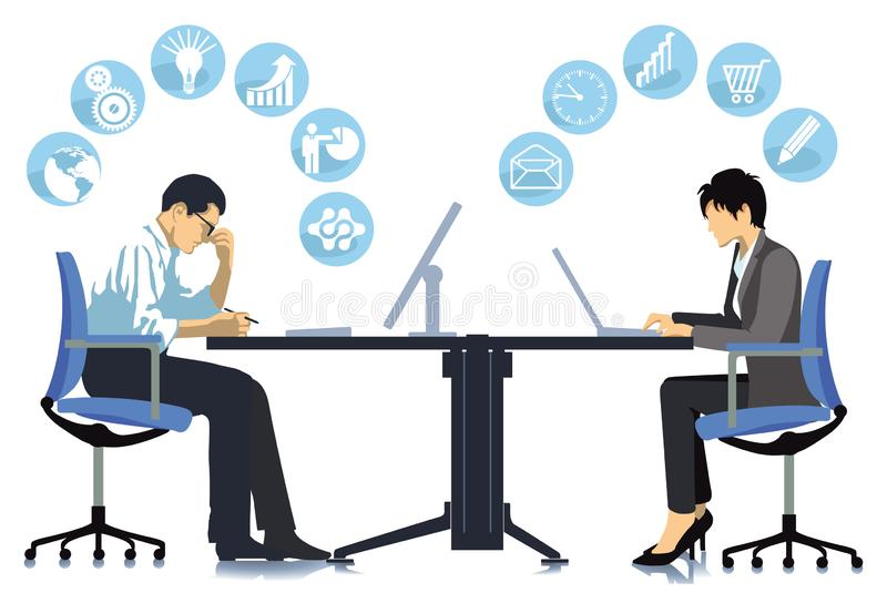 Business team at a meeting- vector illustration