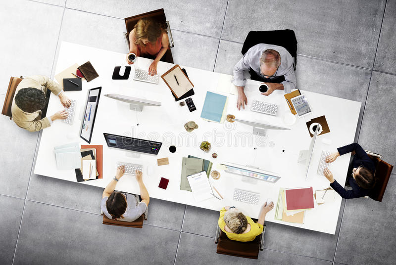 Download Business Team Meeting Connection Digital Technology Concept Stock Photo - Image of connection, internet: 65007498