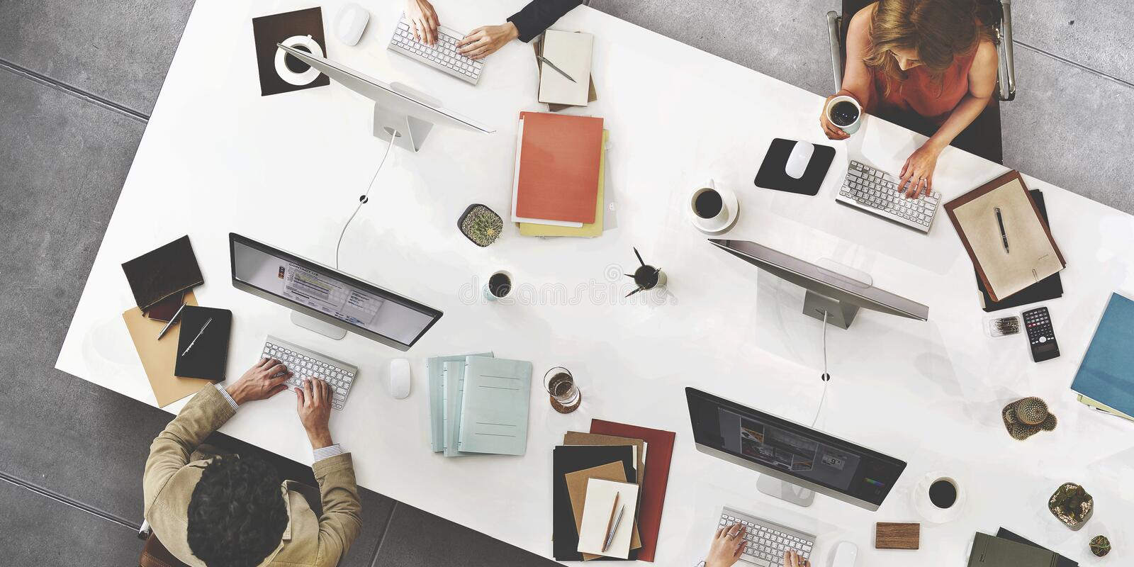 Business Team Meeting Connection Digital Technology Concept royalty free stock image