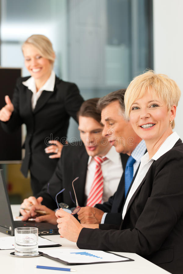 Download Business - Team Meeting In An Office Stock Image - Image: 21713347
