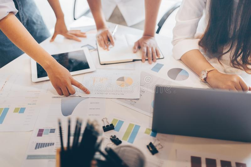 Business team is meeting in office room stock images