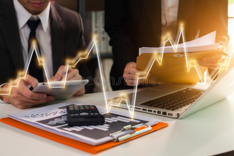 Business team meeting present.professional investor working. stock image