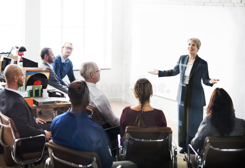 Business Team Meeting Seminar Conference Concept.  royalty free stock photo