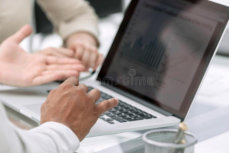 Business team meeting working with new startup project royalty free stock photo