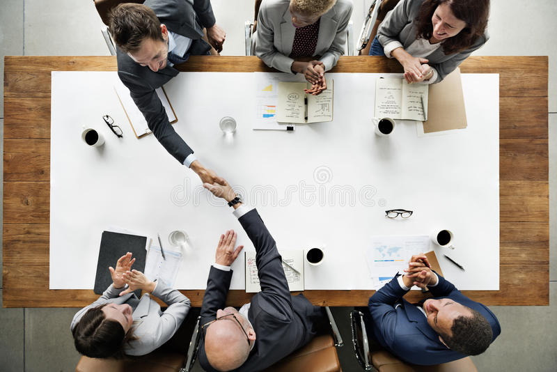 Business Team Meetng Handshake Applaud Concept.  royalty free stock images