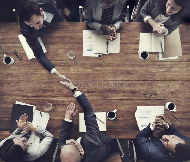 Business Team Meetng Handshake Applaud Concept.  royalty free stock photography