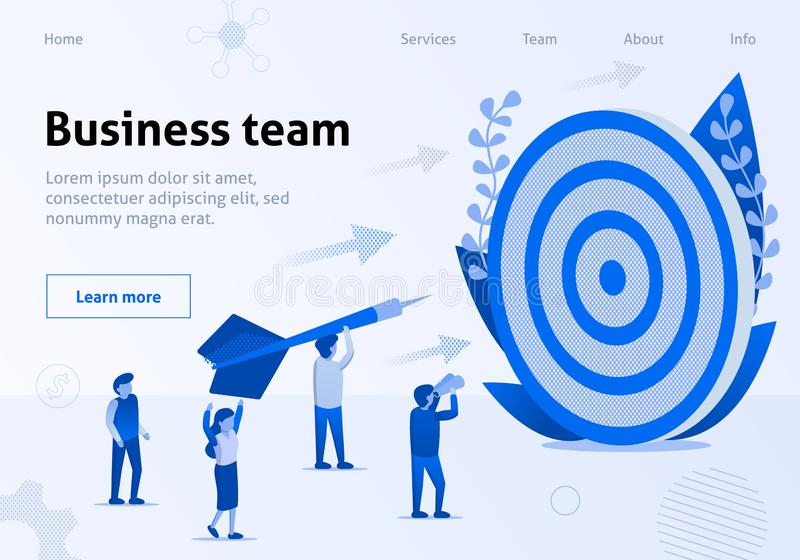 Business Team Metaphor Cooperation WorkBanner royalty free illustration