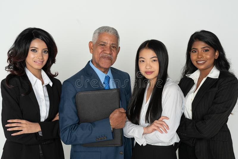 Business Team Of Minority Workers royalty free stock image