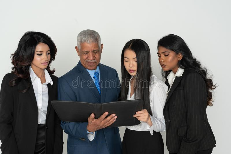 Business Team Of Minority Workers royalty free stock photos