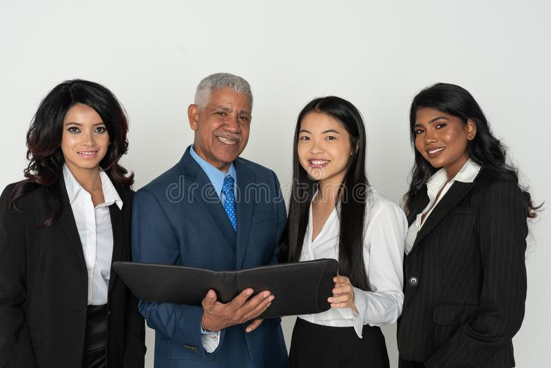 Business Team Of Minority Workers royalty free stock photography