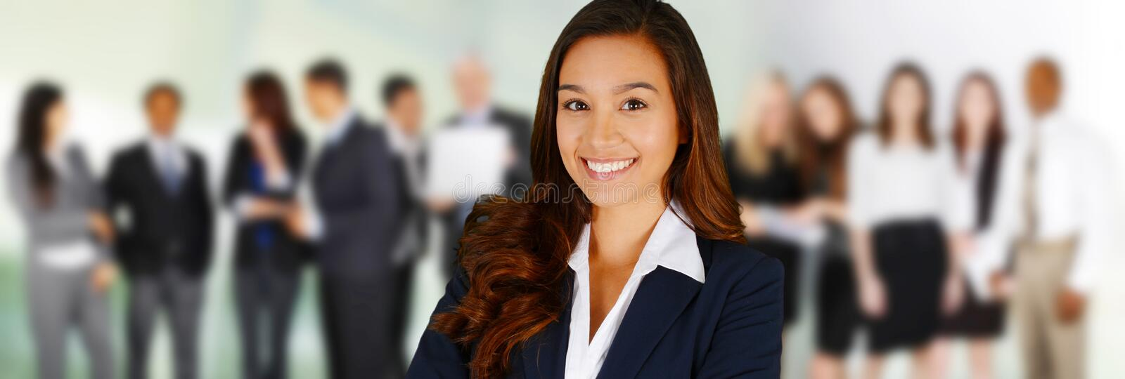 Business Team. Of Mixed Races at Office royalty free stock image
