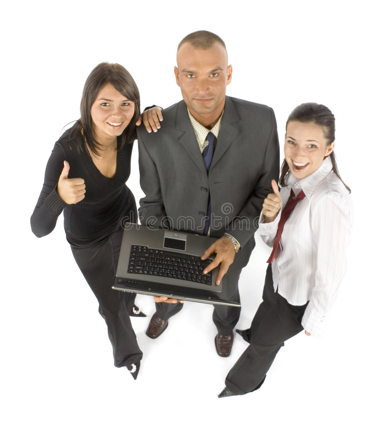 Business team with notebook royalty free stock photography