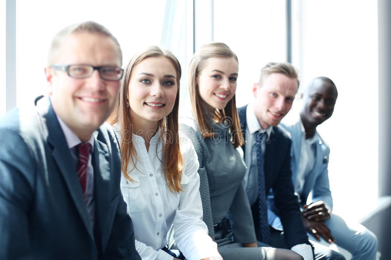 Business team. At the office stock images
