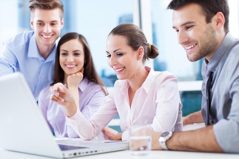 Business team at the office royalty free stock photos