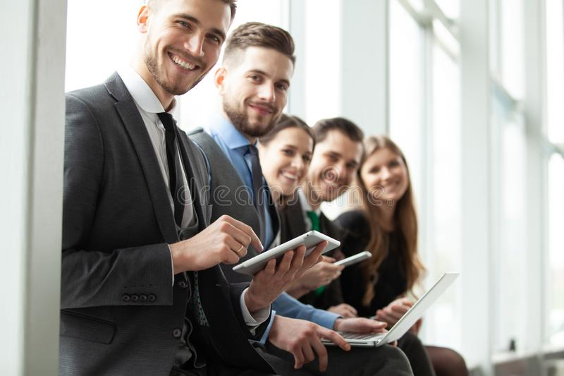Business Team Office Worker Entrepreneur Concept. Creative People Working Together. royalty free stock image