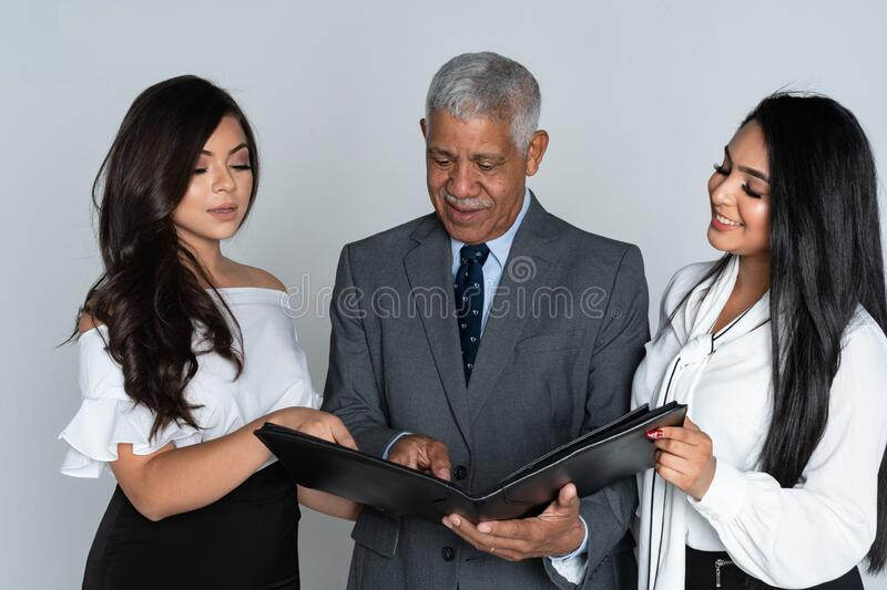 Business Team At The Office Working royalty free stock photography