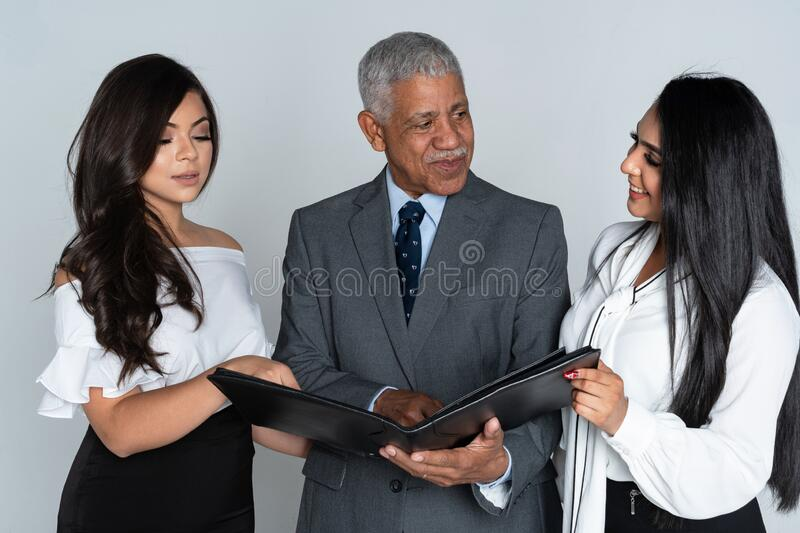 Business Team At The Office Working royalty free stock image