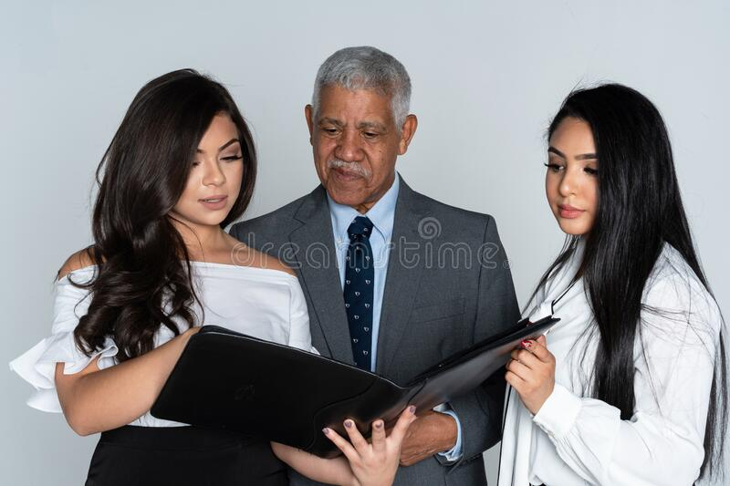 Business Team At The Office Working royalty free stock images