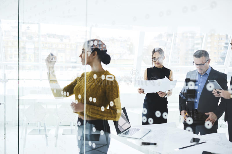 Business team official event in modern conference room royalty free stock images