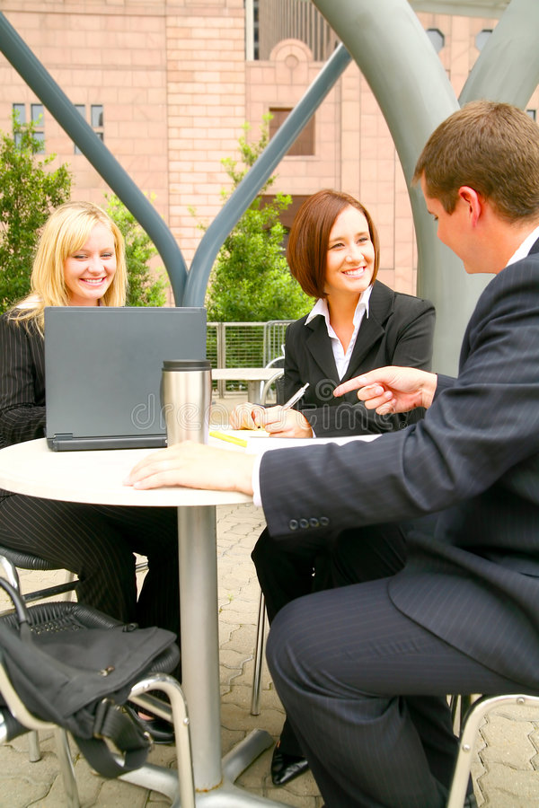 Business Team Outdoor royalty free stock image