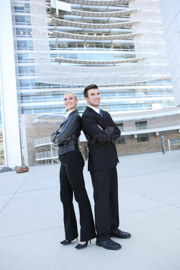 Business Team Outside Office royalty free stock photo
