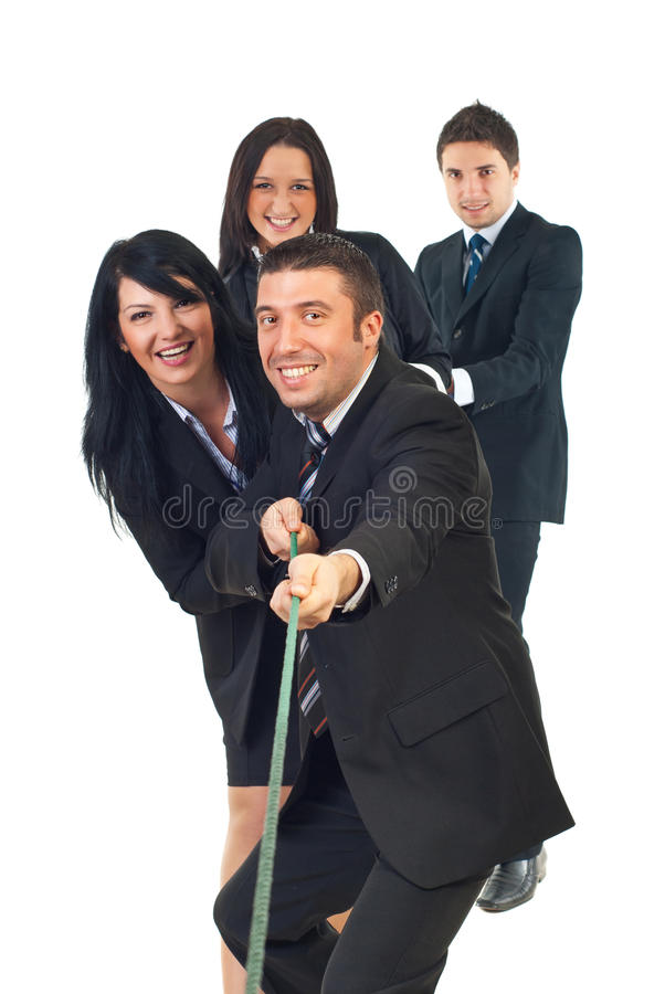Business team of people effort stock photo