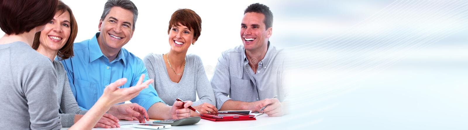 Business team. Business people group working. Financial service concept stock photo