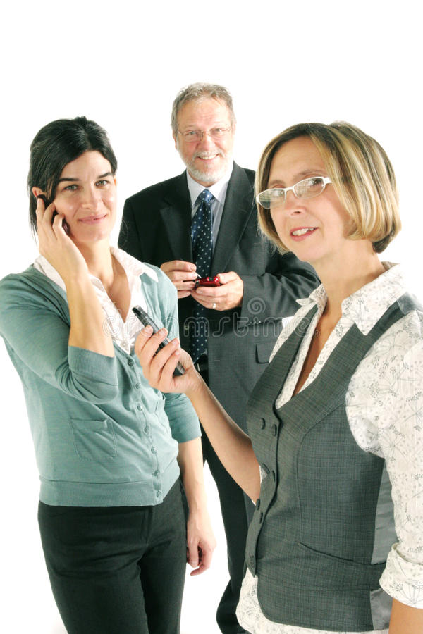 Business team on phone royalty free stock photos