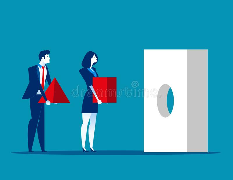 Business team and problem solving. Concept business vector illustration. Issue, Teamwork stock illustration