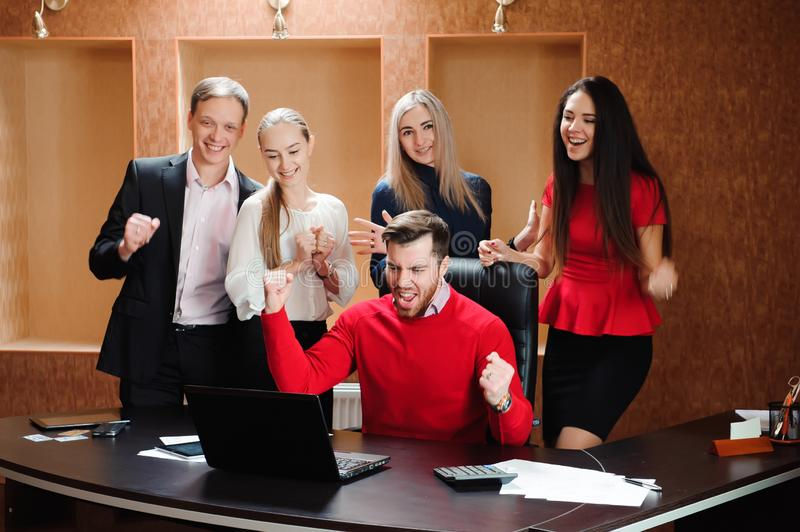 Business Team Professional Occupation Workplace Concept, people in office holding a conference and discussing strategies. Business Team Professional Occupation royalty free stock photos