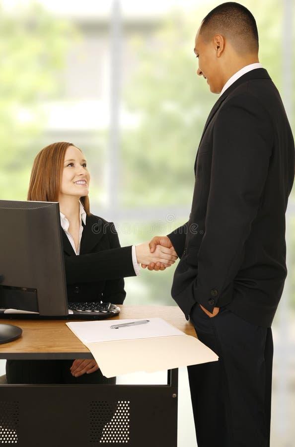 Business Team Reach Agreement stock photography