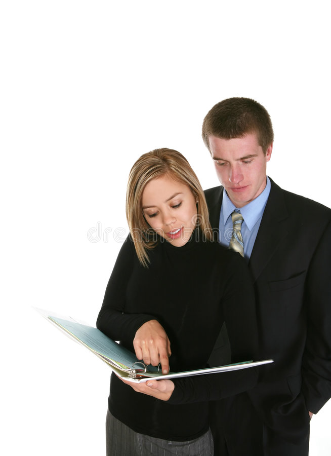Download Business Team Reviewing Notes Stock Image - Image: 1902169