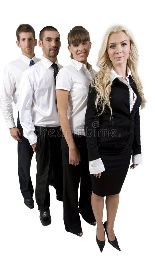 Download Business Team In A Row Royalty Free Stock Photo - Image: 6412855
