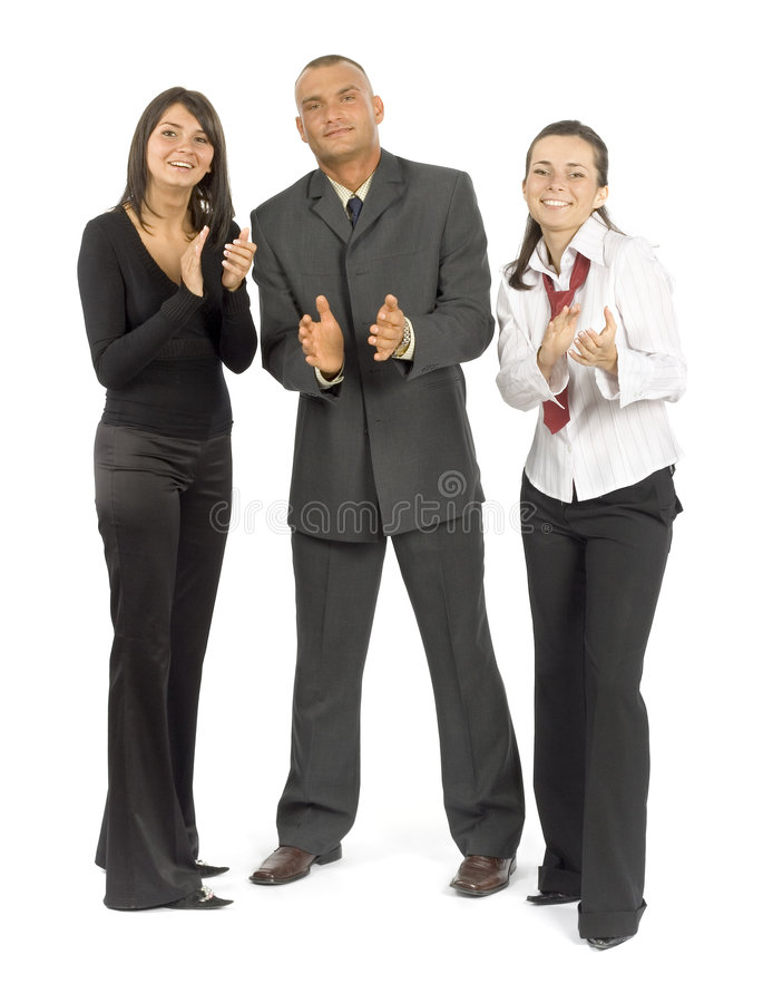 Business team's approbation stock photography